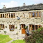 Renovated weavers cottage in Mean Hey hamlet Yorkshire - Doors, patio doors and windows supplied in the versatile Idigbo hardwood