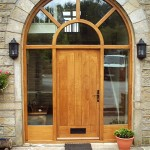 Oak Arch Exterior Door and Windows