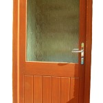 Part Glazed Rear Door - A typical rear entrance door stained and glazed