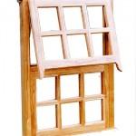 Top Hung Casement Window Made From Oak